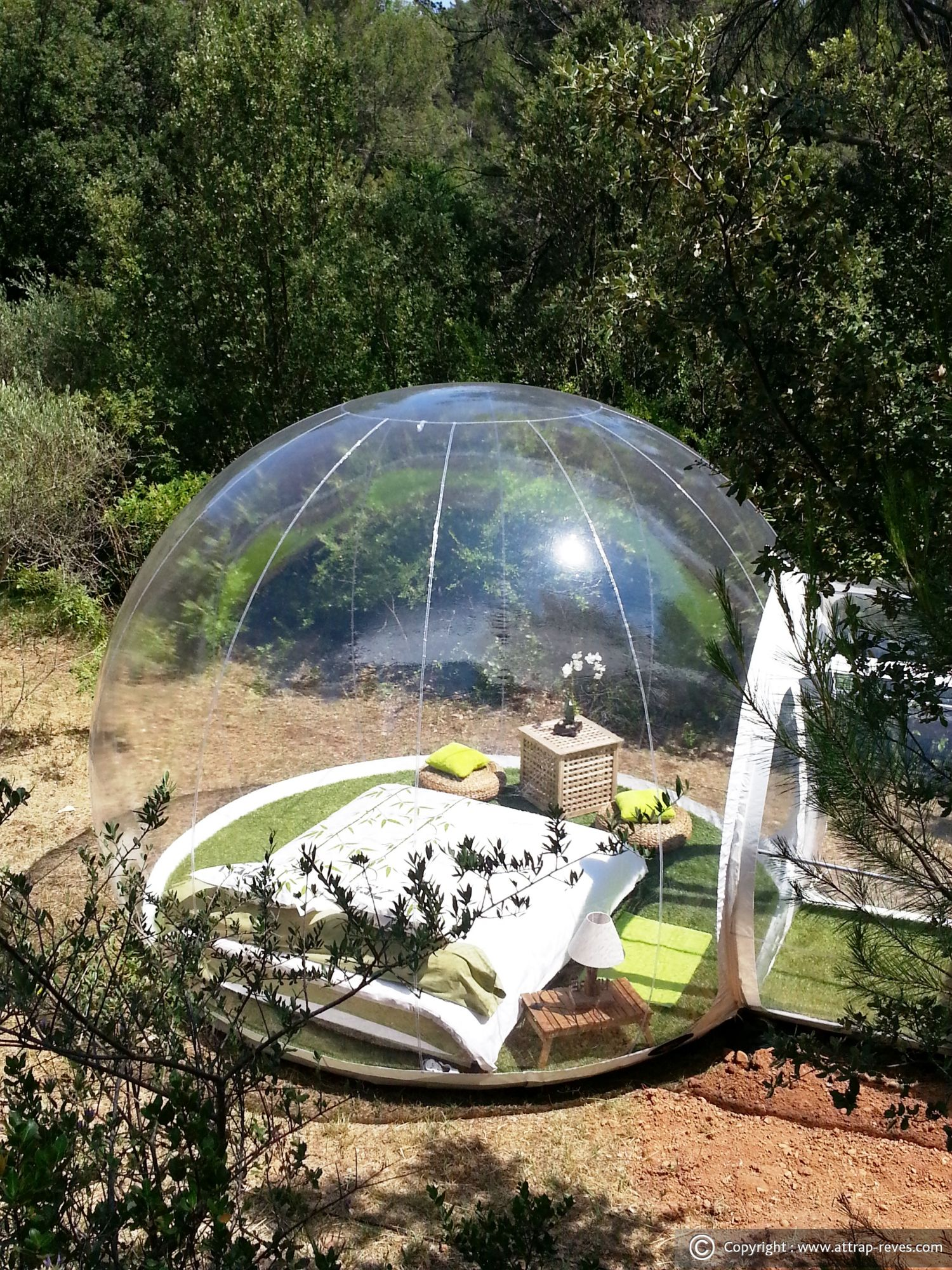 Sunday bucket list french bubble pod glamping getaway brigade Attrap reves hotel